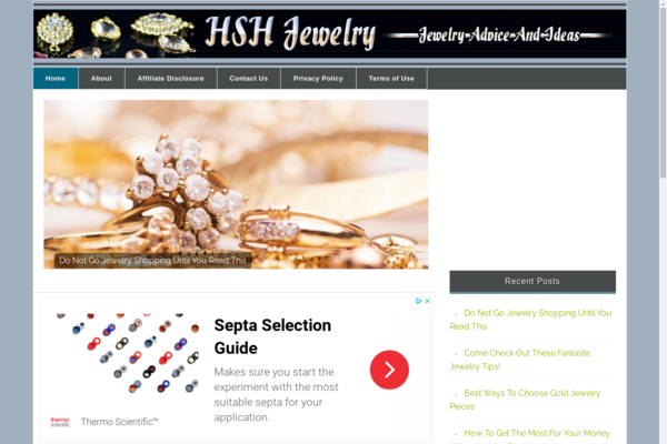 hshjewelry.com - Jewelry Niche Website For Sale High earnings Potential!