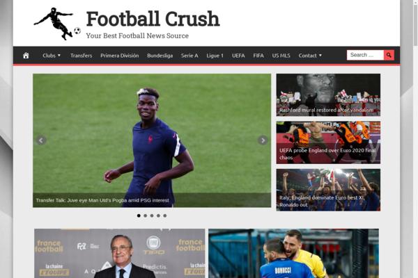 FootballCrush.com - Fully Automated Football News Website. Get 5 Automated Websites worth over $900