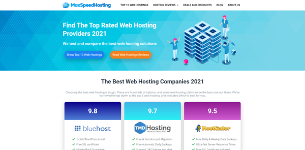 MaxSpeedHosting.com - Hosting Affiliate Site To Make Money Online, Earn Up To $10k/Month