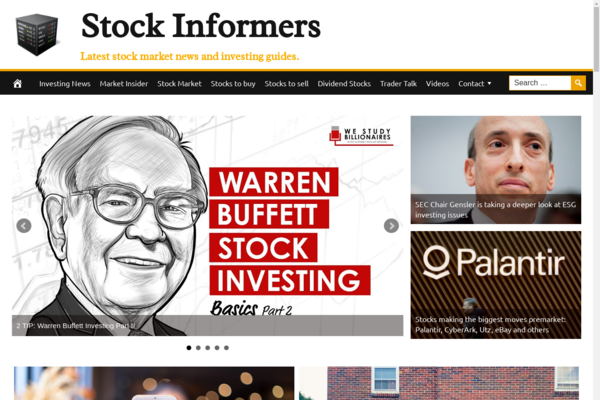 StockInformers.com - 100% Automated, Premium Design, Hot Niche Stocks Website + BIN Hosting