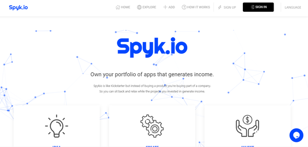 spyk.io - HIGH VALUE Crowdfunding Platform, custom coded Saas in a low competition niche