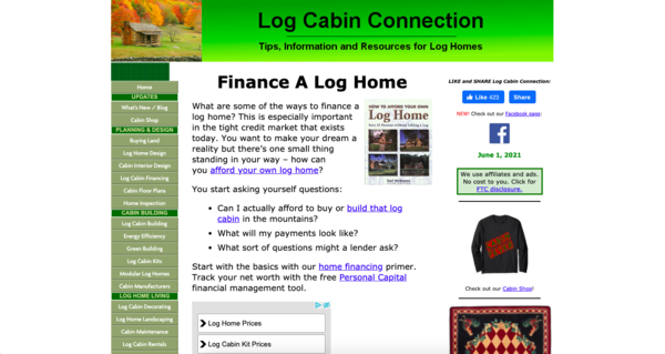 log-cabin-connection.com - Advertising / Business