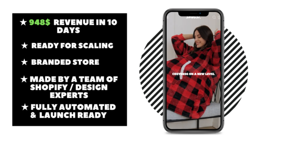Snugsies - Branded Ecommerce Store With Clean & Modern Design Made By Professional Webdesign team. $948 Revenue Generated In 9 Days. Everything Is Automated.