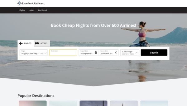 ExcellentAirfares.com - Hotel, Flight and Car Rental Travel Search Engine. Beginner Friendly