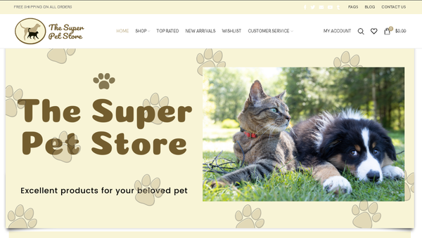 thesuperpetstore.com - Automated Store, SEO Backlinks $4,500/Mo Potential, 12-years Domain -NO RESERVE!