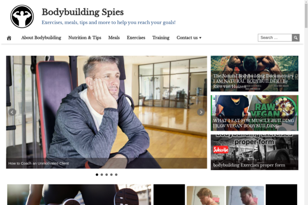 BodybuildingSpies.com - Premium Design Bodybuilding & Workout Site, 100% Automated, Amazon and Ad Income