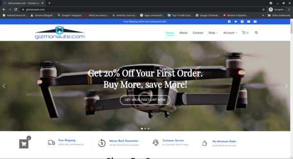 gizmonauts.com - Gizmonauts.com Automated WooCommerce Dropshipping Store 500+ Drone Products.