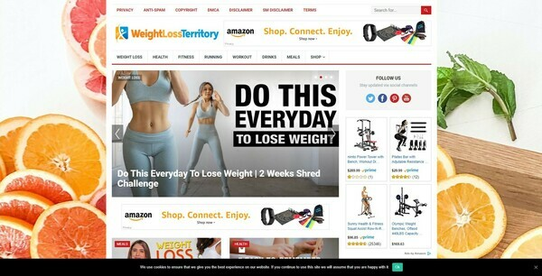 WeightLossTerritory.com - Automated Amazon Weight Loss Niche Blog To Make Money Online, Earn Up To $5k/mo