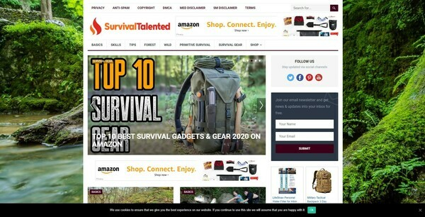 SurvivalTalented.com - 100% Autopilot & Automated Survival Niche Site To Make Money Online From Amazon Ads, Affiliate Links - 200 Amazon Products Preloaded