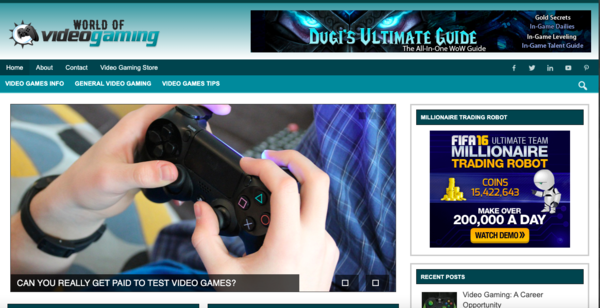 worldofvideogaming.com - Tap Into The MultiBillion Video Gaming Niche With Your Own Ready-to-Go Website