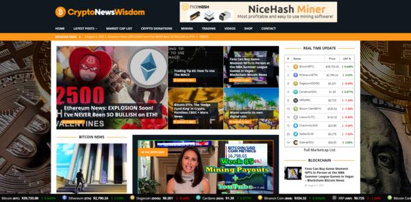 CryptoNewsWisdom.com - Autopilot Crypto Bitcoin News Magazine Blog To Make Money Online