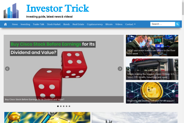 InvestorTrick.com - Fully Automated Investing Tips Website. Get 5 Automated Websites worth over $900