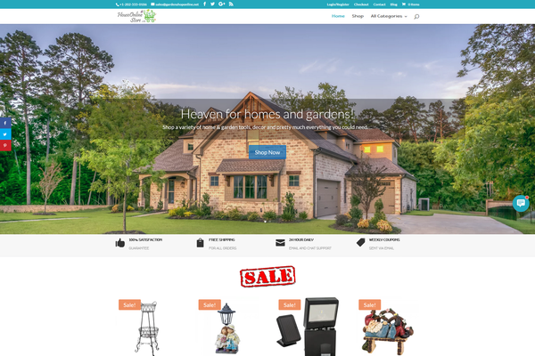HouseOnlineStore.com - Home & Garden Dropship Store | Complete Package & No monthly fees | FREE Hosting