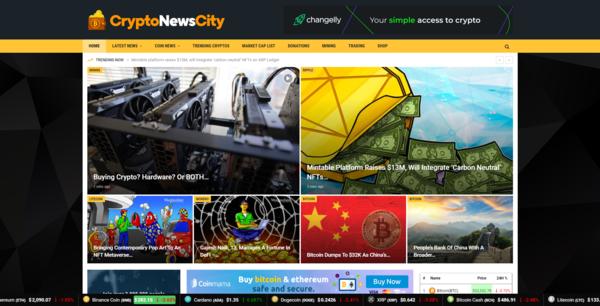 CryptoNewsCity.com - Autopilot Crypto Bitcoin News Magazine Blog To Make Money Online