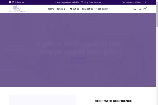 thecatsupplyshop.com - TheCatSupplyShop.com - Shopify Dropshipping Ecommerce Store Selling Cat Supplies