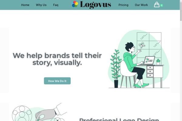 logovus.com - Logo design Professional website, proven business model, and good branding.
