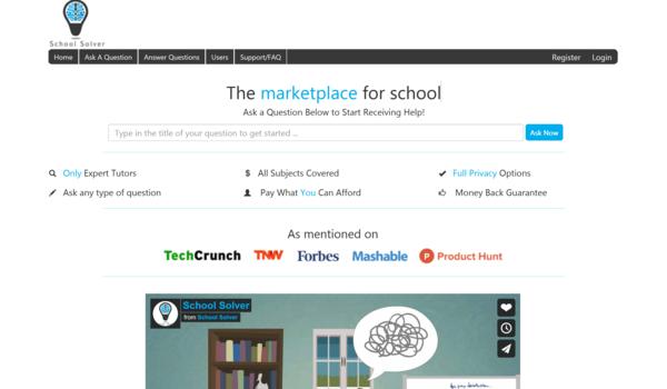 schoolsolver.com - Marketplace / Education