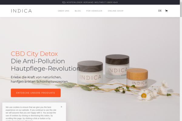 Indica CBD Skin Care - Pioneer in the European market for CBD skin care products. Highest CBD content on the European market. Sales 2020:  110k | Profit: 60k