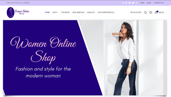 womenonlineshop.com - Automated Store, SEO Backlinks $4,500/Mo Potential, 10-years Domain -NO RESERVE!