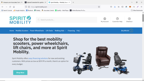 spiritmobility.com - $13,240 in Rev Since July 2021 - USA Suppliers - 5 Day Shipping - $1,300 AOV