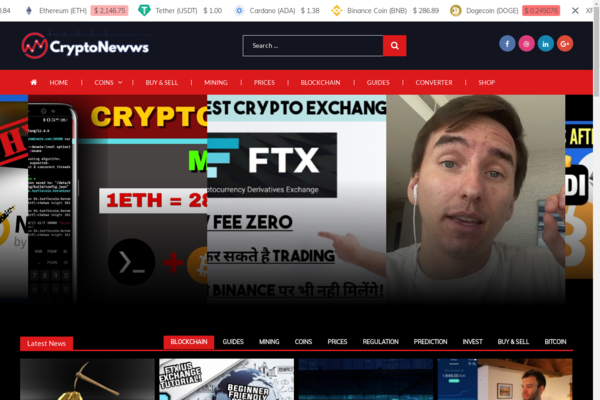 cryptonewws.com - Fully Automated Crypto Currencies Video Blog, Auto- Shop - Free Hosting