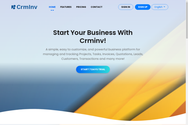 CRMinv.com - SaaS based cloud accounting software with all CRM tools Website for Sell.