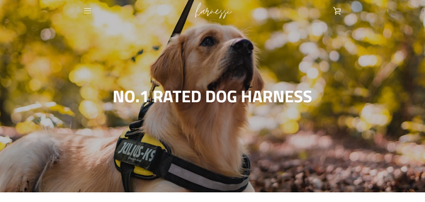 harnessi.com - Customizable Dog Harness   Branded Automated One Product Store   4-13 Shipping