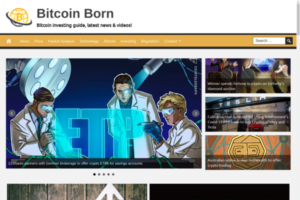 BitcoinBorn.com - Fully Automated Bitcoin News Website. Get 5 Automated Websites worth over $900