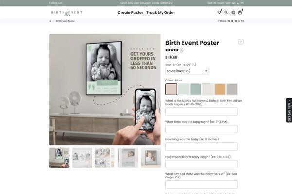 birthevent.com - HOT! Personalized Gifts Business  100% Original Design Easy Fulfillment