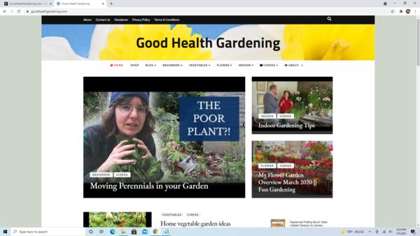 GoodHealthGardening.com - High Converting Hot Gardening Niche - Premium Design - 100% Fully Automated