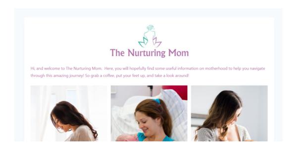 thenurturingmom.com - Perfect Starter Mom Blog Including 30 Posts and Social Media Handles