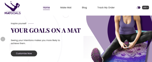 MatGoals - On Trend Health Exercise Mat Shopify Store| 100% Unique Product |Business Plan Included MatGoals.com is a professionally designed, AUTOMATED Shopify store that