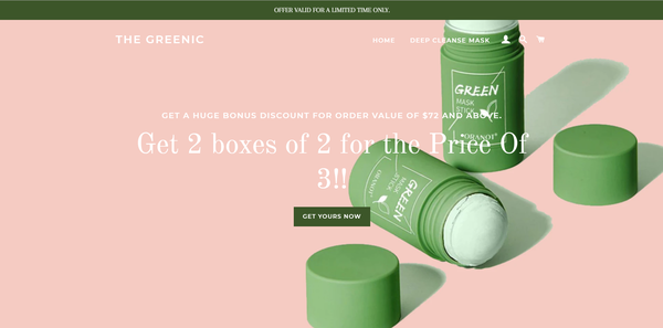 thegreenic.com - 100% Ready to Go Beauty and Skin Care Dropshipping Store with Fast USA Shipping.