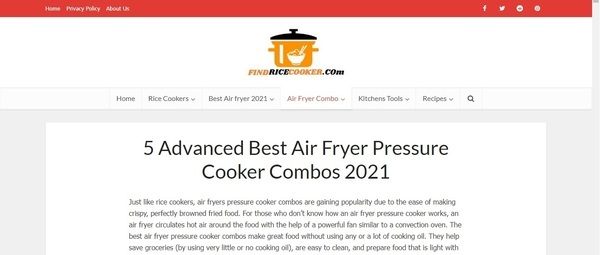 FindRiceCooker - FindRiceCooker aims at providing unbiased reviews about modern kitchen appliances such as rice cookers, air fryers, ovens and more.