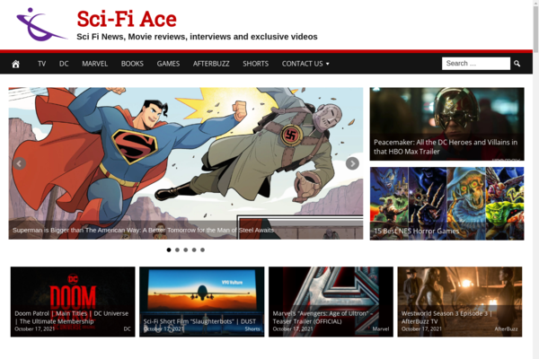 SciFiAce.com - Fully Automated Sci-Fi News Website - 1 Year Free Hosting BIN + Great Bonuses