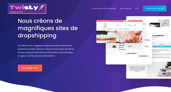 Twistydesign - Premium drop servicing website - Dead-simple drop servicing business - $1,100 domain valuation!  - complete branding included