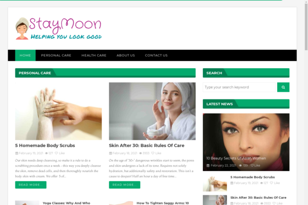 staymoon.com - Starter Site for sale in the Health and Beauty industry