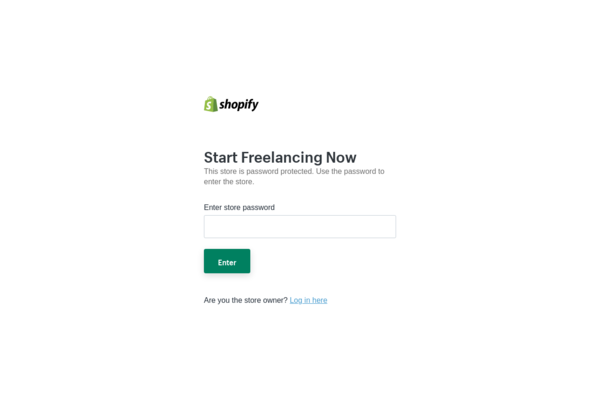 StartFreelancingNow.com - Ecommerce Shopify Starter Store For Sale Specialising in the Freelance Niche