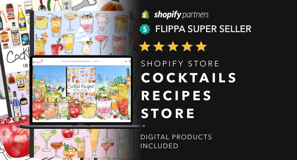 Cocktails-Guide.com - Password: 1234| Cocktail Drinks Ebook Shopify Store For Sale Startup Streams