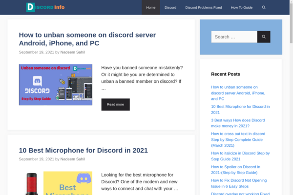 Discord Info  - 1 Year Old Tech Related Site For Sale Ezoic and Adsense Monetized Growing Very Fast