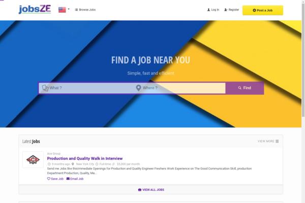 Jobsze.com - Advanced Job Portal Web Application Website for Sell