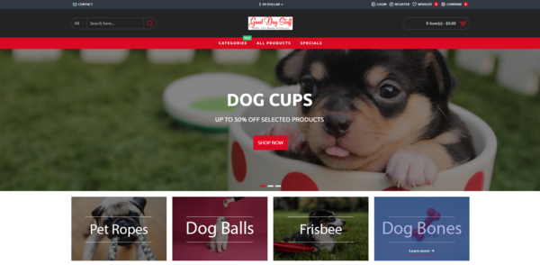Good Dog Stuff - #1 Pet Dog Products eCommerce site with 100% Made In USA Products!   Responsive Site Design   Free Unlimited Hosting & Support + Free Dropshiping Account