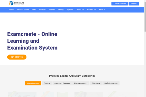 examcreate.com - Online Exam Software for conducting exams, use it for college,university