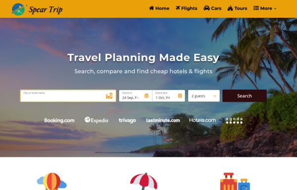 SpearTrip - Automated Travel Website, Earn Up To $10k/Mon On Flights, Hotels & Trip bookings