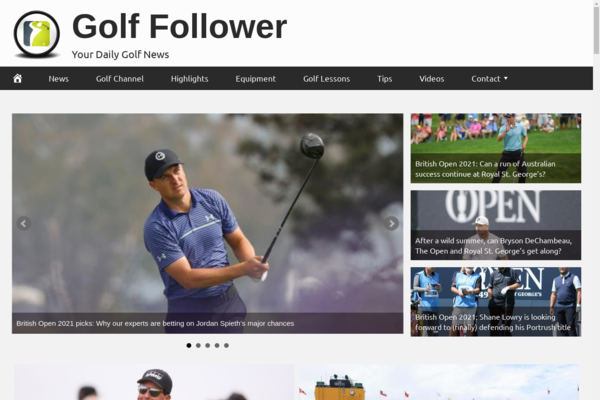 GolfFollower.com - Fully Automated Golf News Website. Get 5 Automated Websites worth over $900