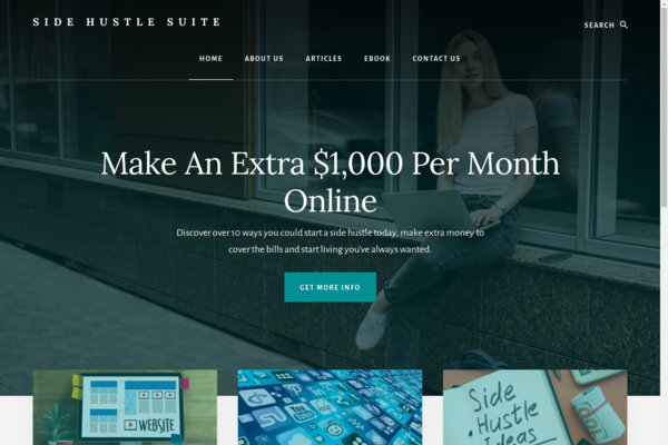 SideHustleSuite.com - Side Hustle Niche Blog - Digital Product Income - BIN Bonus