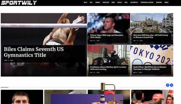 sportwily.com -  Sport news site - $3K/month profit - 10K facebook - Adsense approved