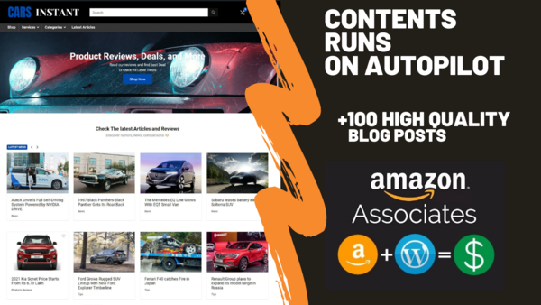 carsinstant.com - Starter Site for sale in the Automotive industry
