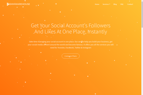 smmwarehouse.xyz - Start your own SaaS Business with Social Media Marketing Reseller Website