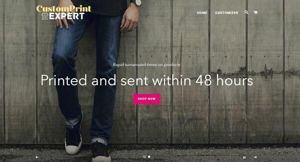 CustomPrintExpert.com - Shopify Dropship On Demand Print Store, Premium Domain worth $901, US suppliers